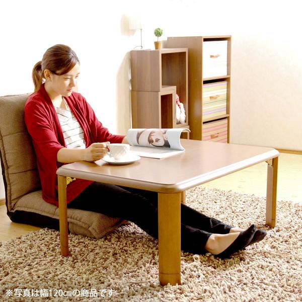 センターテーブル ローテーブル 折れ脚 座卓 折りたたみ 軽量 継脚ブラウン 茶色 【 木製テーブル 木製 リビングテーブル ダイニングテーブル ちゃぶ台 サイドテーブル コーヒーテーブル 送料無料 送料込 】