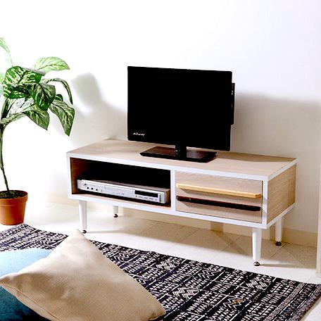 テレビ台 おしゃれ 安い 北欧 ローボード テレビボード 収納 白 90 ホワイト /ナチュラル 脚付き 薄型 幅90 TV台 テレビラック TVボード
