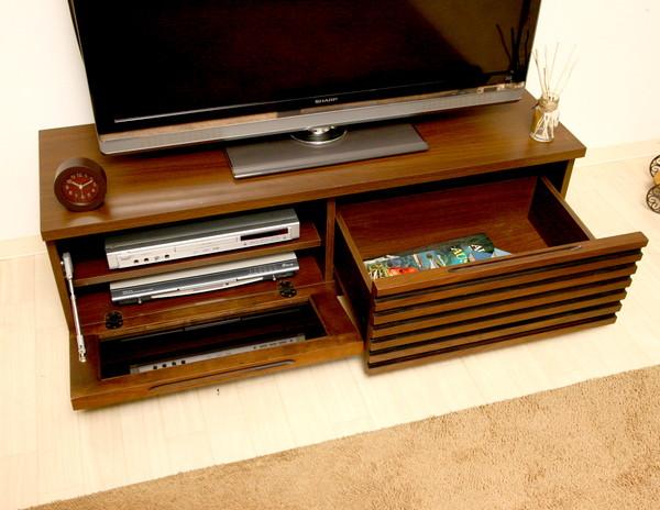 テレビ台 おしゃれ 安い 北欧 ローボード テレビボード 収納 120 ダークブラウン 茶色 薄型 幅120 TV台 テレビラック TVボード
