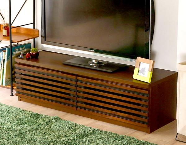 テレビ台 おしゃれ 安い 北欧 ローボード テレビボード 収納 150 ダークブラウン 茶色 薄型 幅150 TV台 テレビラック TVボード