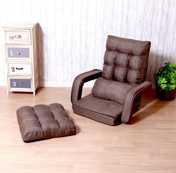 座椅子 座イス 座いす リクライニングチェア 低い 椅子 ソファー 一人暮らし コンパクト ロー こたつ ローソファー ローソファ おしゃれ 1人掛け 一人掛け 厚手 フロアチェア ダークブラウン 幅70 奥行58 座面高11