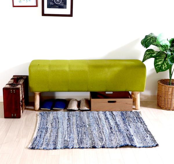 ベンチ ダイニングベンチ 椅子 おしゃれ 木製 安い 北欧 2人掛け 二人掛け 長椅子 ダイニングチェアー チェアー いす 玄関 グリーン 幅105 奥行27 高さ47
