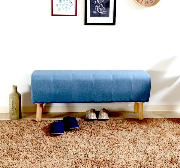 ベンチ ダイニングベンチ 椅子 おしゃれ 木製 安い 北欧 2人掛け 二人掛け 長椅子 ダイニングチェアー チェアー いす 玄関 ブルー 幅105 奥行27 高さ47