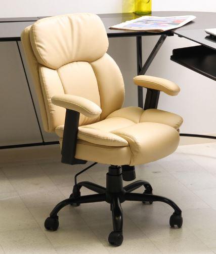 キャスター付き椅子 キャスター オフィスチェア 事務椅子 椅子 チェア デスクチェア アイボリー 肘付き椅子 肘置き 肘付 肘掛 おしゃれ 安い パソコンチェア