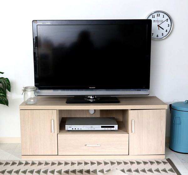 テレビ台 おしゃれ 安い 北欧 ローボード テレビボード 収納 白 120 薄型 扉付き 幅120 ホワイト ウォッシュ TVボード TV台 テレビラック TVラック