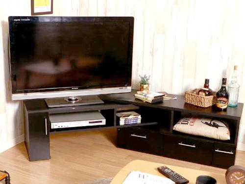 テレビ台 おしゃれ 安い 北欧 ローボード テレビボード 収納 110 ブラック 黒 コーナータイプ 伸縮 L字 幅110 TV台 テレビラック TVボード TVラック