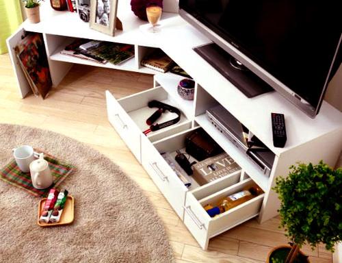 テレビ台 おしゃれ 安い 北欧 ローボード テレビボード 収納 白 110 ホワイト コーナータイプ 伸縮 L字 幅110 TV台 テレビラック TVボード TVラック