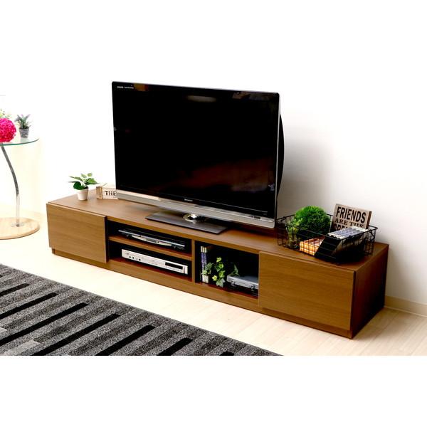 テレビ台 おしゃれ 安い 北欧 ローボード テレビボード 収納 180 ブラウン 茶色 薄型 幅180 TV台 テレビラック TVボード TVラック