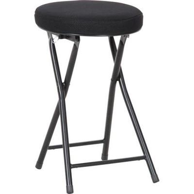 パイプ椅子 折りたたみ椅子 折り畳み椅子 イス 椅子 チェア おしゃれ 安い 軽量 コンパクト 6脚 ブラック 黒 背もたれなし 丸椅子 丸イス スツール