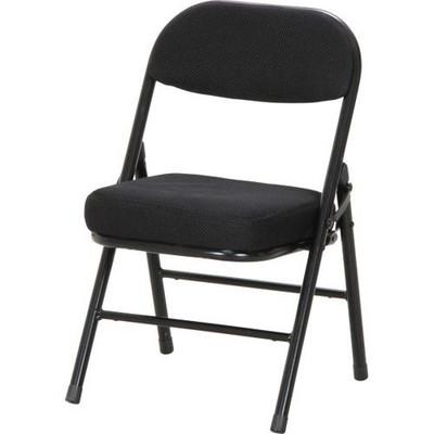 パイプ椅子 折りたたみ椅子 折り畳み椅子 イス 椅子 チェア おしゃれ 安い 軽量 コンパクト 6脚 低い椅子 ブラック 黒 背付き 背もたれ 背もたれ付き ロータイプ