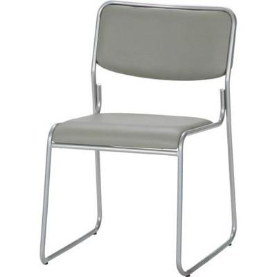 会議 会議椅子 会議用椅子 イス 椅子 チェア ミーティングチェア 格安 安い 4脚 4脚セット パイプ椅子 スタッキング グレー 灰色 背もたれ 背もたれ付き