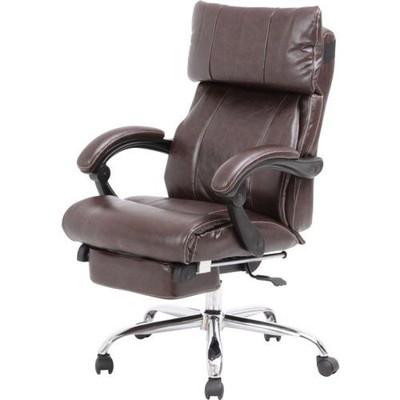 オフィスチェアー キャスター付き椅子 学習椅子 リクライニング 足置き ダークブラウン 茶色 【 椅子 チェアー イス いす パソコンチェアー ハイバック ダイニングチェアー デザイナーズチェアー 送料無料 ポイント 】