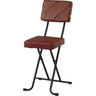 パイプ椅子 折りたたみ椅子 折り畳み椅子 イス 椅子 チェア おしゃれ 安い 軽量 コンパクト 4脚 4脚セット フォールディング ブラウン 背もたれ 背もたれ付き