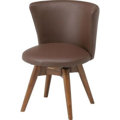 ダイニングチェア 椅子 おしゃれ 北欧 安い 回転 回転式 クッション 座布団 座り心地 アンティーク ウォールナット ウォルナット 木製 座面 低め 低い ロータイプ モダン レザー 合皮 デザイナー カフェ