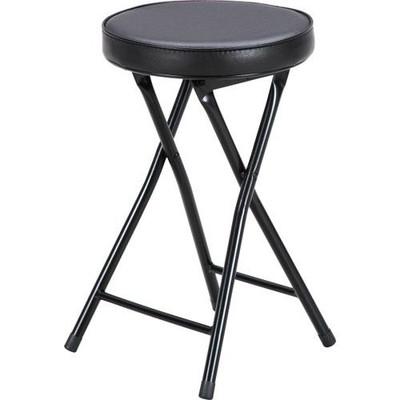 パイプ椅子 折りたたみ椅子 折り畳み椅子 イス 椅子 チェア おしゃれ 安い コンパクト 6脚 ブラック 黒 会議イス ミーティングチェア 背もたれなし 会議 格安