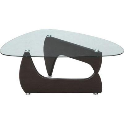 センターテーブル ローテーブル ガラス ウォールナット 茶色 木目 【 ガラステーブル リビングテーブル ダイニングテーブル ちゃぶ台 サイドテーブル コーヒーテーブル 座卓 送料無料 送料込 ポイント 】