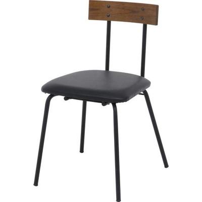 ブラック 黒 ダイニングチェア 食卓椅子 ダイニングチェアー チェア いす 椅子 イス リビングチェアー 食卓チェアー 西海岸 ビンテージ ヴィンテージ