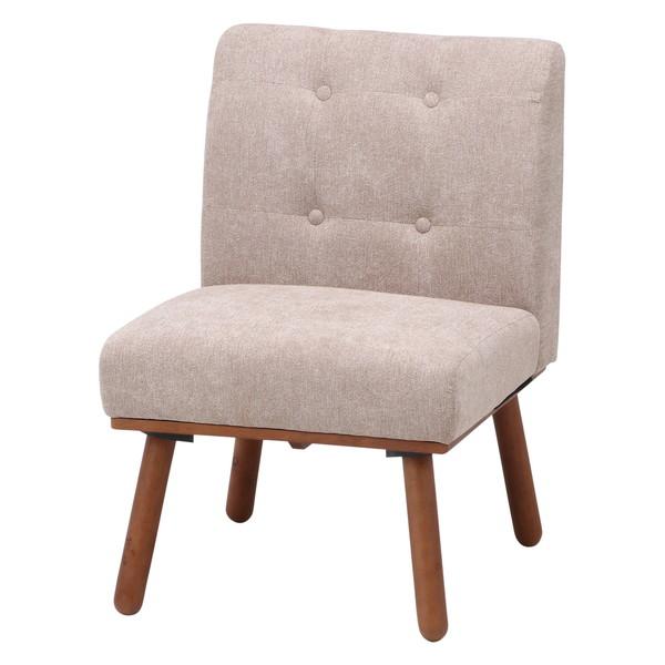 ダイニングチェア 椅子 おしゃれ 北欧 レトロ 軽量 安い モダン カフェ PC ブラウン×ベージュ 幅54 奥行62 高さ78