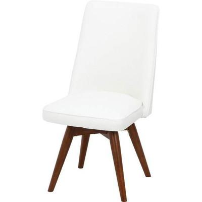 ダイニングチェア 椅子 おしゃれ 北欧 安い 回転 回転式 クッション 座布団 座り心地 アンティーク ウォールナット ウォルナット 木製 白 ホワイト ハイバック モダン レザー 合皮 座面高め
