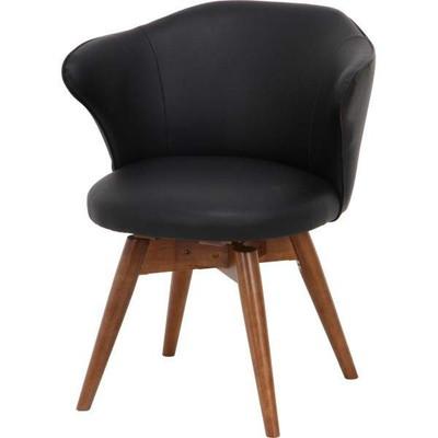 ダイニングチェア 椅子 おしゃれ 北欧 安い 回転 回転式 クッション 座布団 座り心地 アンティーク ソファ ウォールナット ウォルナット 木製 黒 ブラック モダン レザー 合皮 座面高め デザイナー カフェ