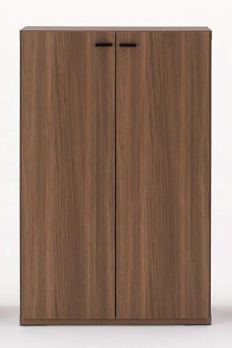 下駄箱 シューズラック シューズボックス 靴箱 オフィス おしゃれ 北欧 収納 安い 薄型 スリム 約 幅75 ?完成品 木製 ロータイプ 扉