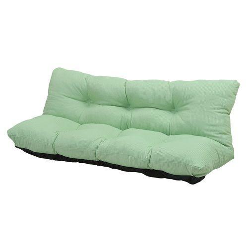 ローソファ カウチソファー 2人掛け 座椅子 リクライニングチェア 160幅 グリーン 緑 【低反発 座椅子 座いす チェア チェアー 1人掛け ソファー ソファ 座イス リクライニング 送料無料】