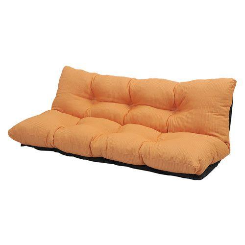 ローソファ カウチソファー 2人掛け 座椅子 リクライニングチェア 160幅 オレンジ 【低反発 座椅子 座いす チェア チェアー 1人掛け ソファー ソファ 座イス リクライニング 送料無料】