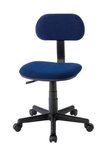 オフィスチェア 事務椅子 キャスター付き椅子 キャスター 椅子 チェア ブルー 青 デスクチェア 肘なし おしゃれ 安い パソコンチェア