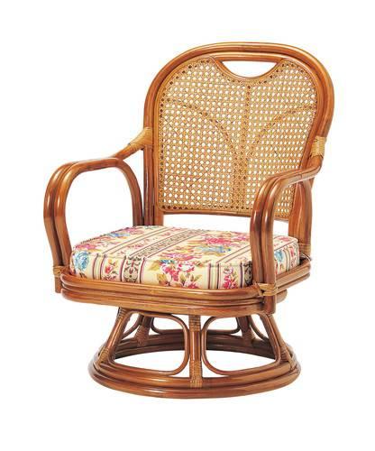 座椅子 回転 籐 ラタン 回転椅子 ( 低反発 座いす チェア チェアー 1人掛け ソファー ソファ 座イス 低い 低い椅子 リクライニング 360度回転 )