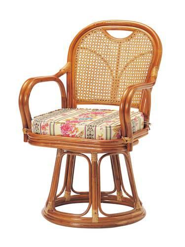 座椅子 回転 籐 ラタン 回転椅子 ハイタイプ ( SH440 ) 低反発 座いす チェア チェアー 1人掛け ソファー ソファ 座イス 低い 低い椅子 リクライニング 回転