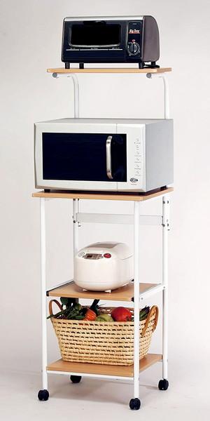 レンジ台 食器棚 おしゃれ 北欧 安い キッチン 収納 棚 ラック 木製 約 幅50 ハイタイプ スライド 炊飯器置き場 大容量 スリム キャスター ワゴン 調味料 レンジラック