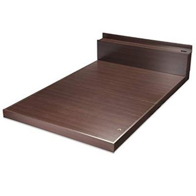 ダブルベッド ローベッド フラット ダブル フレーム のみ 木製 ( ベッド 低い 低いベッド 低いベット )