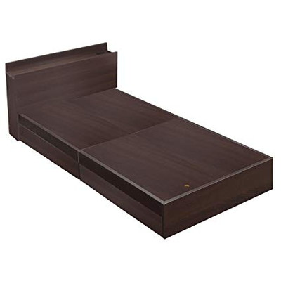 ベッド 安い シングル シングルベッド シングルサイズ フレームのみ 収納付き 木製 宮付き