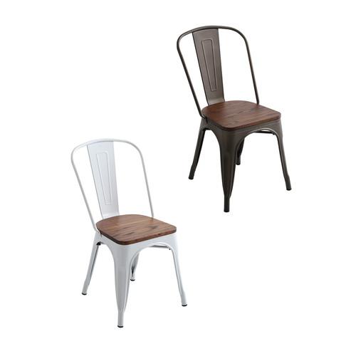 ダイニングチェア 椅子 おしゃれ 北欧 安い 4脚 セット ビンテージ ヴィンテージ インダストリアル 黒 ブラック シンプル ハイバック モダン 座面高め デザイナー カフェ PC