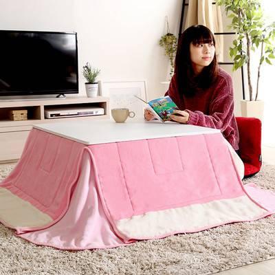 一人暮らし シンプル モダン 白家具 姫系 可愛い かわいい こたつ布団セット 正方形 68cm 掛け布団 掛け 掛布団 センターテーブル ローテーブル コーヒーテーブル 応接テーブル 机 リビング おしゃれ ソファーテーブル