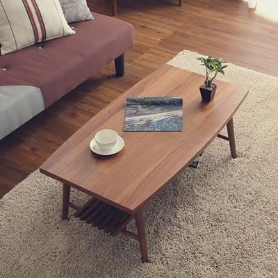 北欧 棚付き 棚 こたつ 長方形 おしゃれ ウォールナット 折り畳み 日本製 完成品 センターテーブル ローテーブル コーヒーテーブル デスク 机 文机 一人暮らし