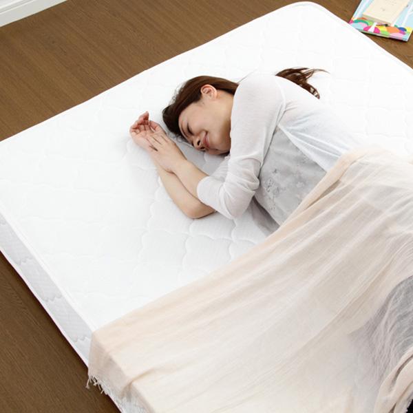 あす楽 マットレス マット ベッドマットレス ベッドマット セミダブル 安い あす楽 腰痛 硬め ボンネルコイル ロール梱包 お昼寝 120×195 ベッド ベット