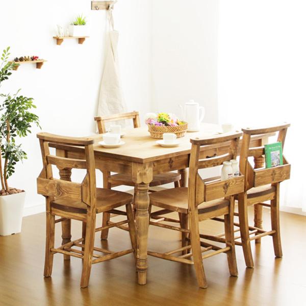 ダイニングテーブルセット ダイニングセット おしゃれ 安い 北欧 食卓 4人用 四人用 3人 120×75 椅子 4脚 カントリー ナチュラル カントリー