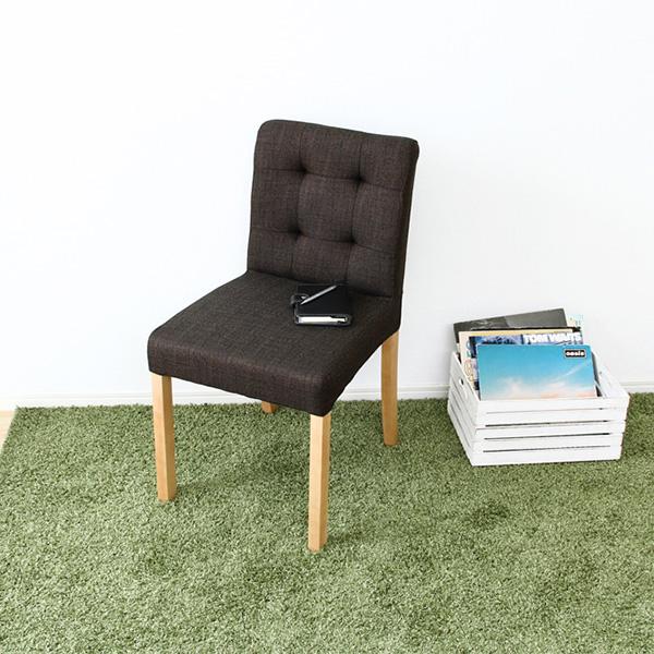 ダイニングチェアー ファブリック (2脚セット) 【 椅子 チェアー イス いす パソコンチェアー オフィスチェアー デザイナーズチェアー 北欧 リビング 送料無料 】