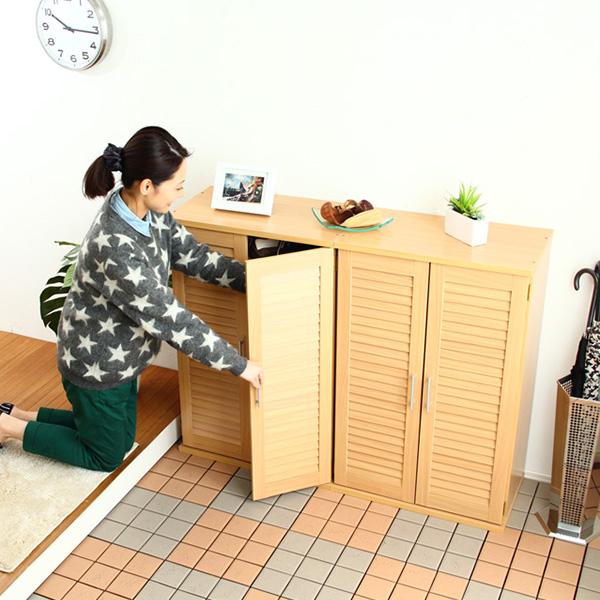 下駄箱 シューズラック シューズボックス 靴箱 オフィス 2個 おしゃれ 北欧 収納 安い 薄型 スリム 約 幅60 幅120 カビ対策 通気性 木製 大型 大容量 ルーバー ロータイプ 扉