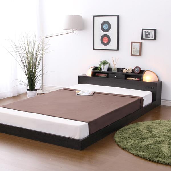 ベッド ベット 安い セミダブル セミダブルベッド セミダブルベット セミダブルサイズ 宮 ライト (マルチラススーパー マットレス付き )