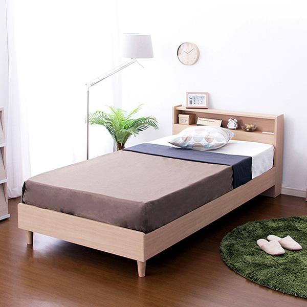 ベッド 安い シングル シングルベッド シングルサイズ 宮付きベッド ポケットコイル マットレス付き )