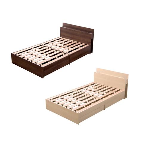 ベット ベッド 安い おしゃれ 北欧 ダブル ダブルベット 宮 ライト コンセント付き 収納付き ベッドフレーム ベットフレーム