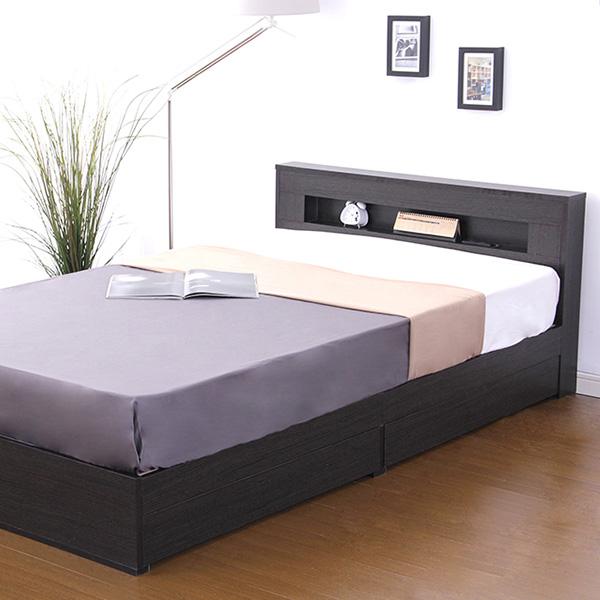 ベッド ベット 安い シングル シングルベッド シングルベット シングルサイズ 宮 ライト 収納付き (マルチラススーパー マットレス付き )