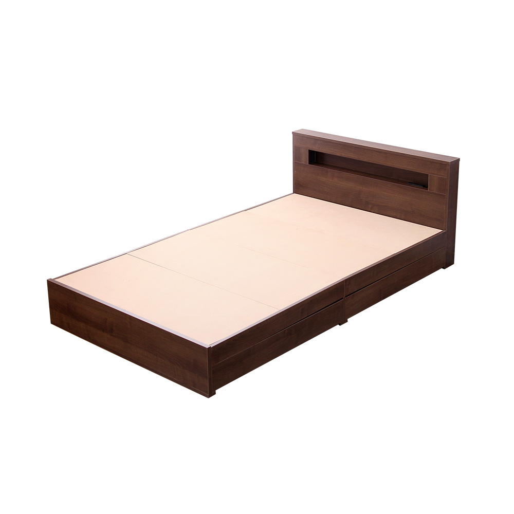 ベット ベッド 安い おしゃれ 北欧 シングル シングルベット 宮 ライト 収納付き ( コンセント付き ) ベッドフレーム ベットフレーム