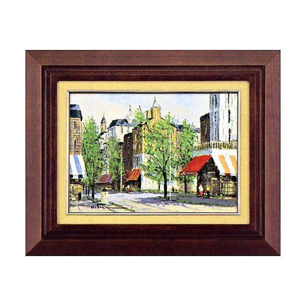 黒沢 久 『パリの街角 』 絵画 油絵 F4号 全国送料無料 【smtb-k】【ky】