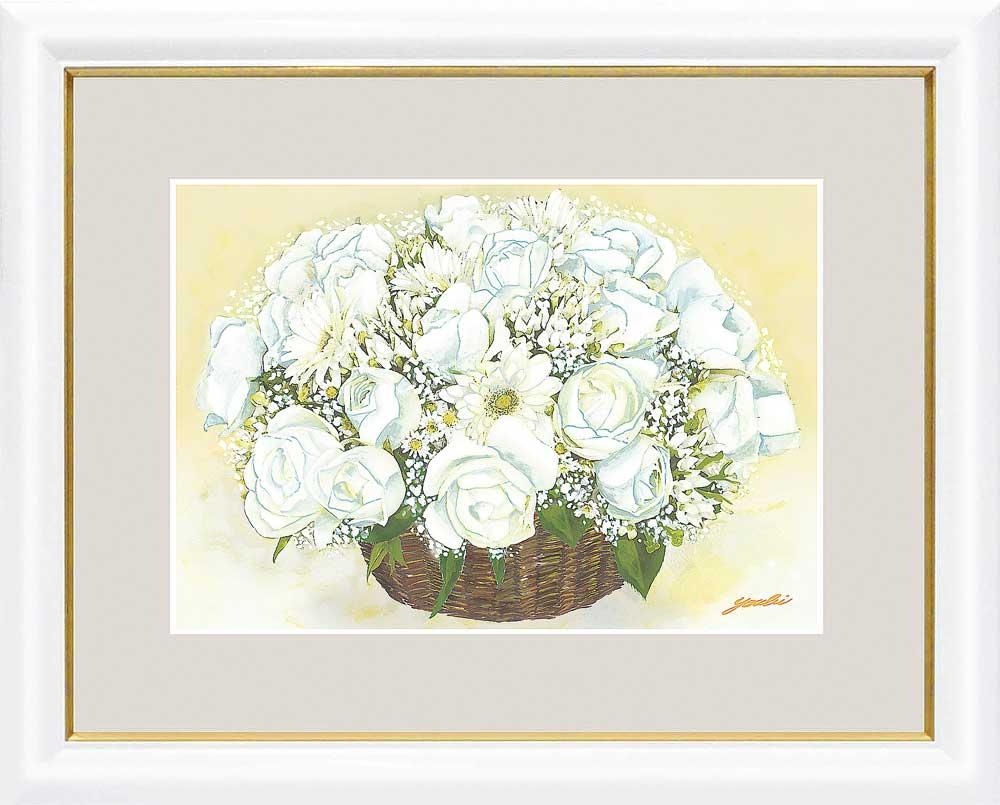 額 洋美 千 采加 幸せのブーケ 人間関係運北 清純な白いブーケ 絵画