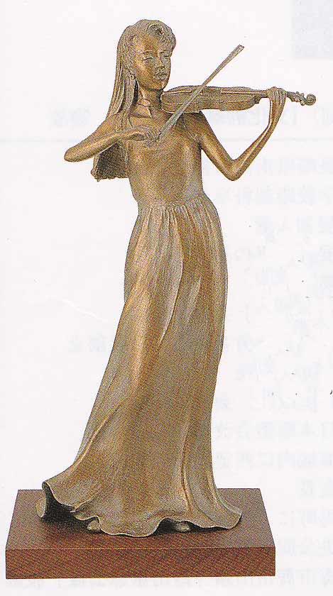 大道寺光弘 洋風 奏風 床の間 置物 銅像 全国送料無料 【smtb-k】【ky】