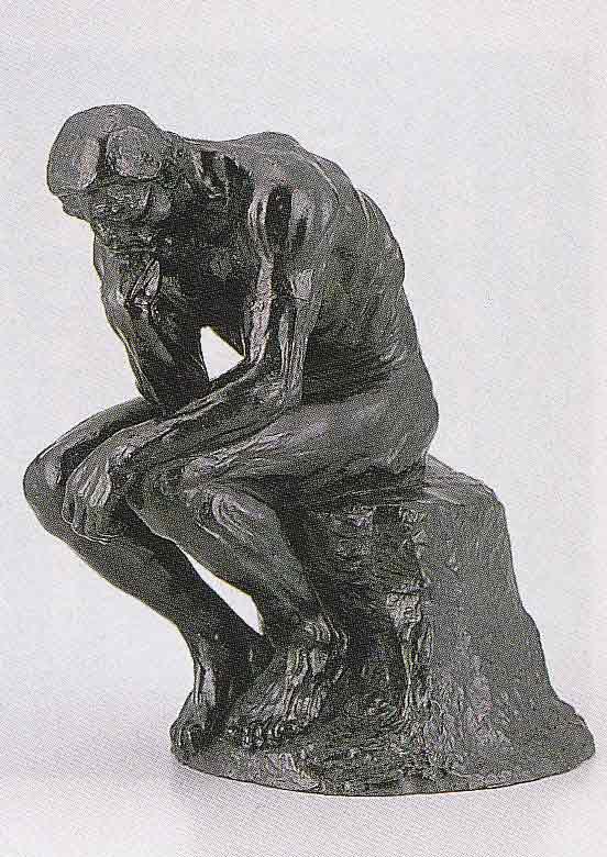 洋風 考える人 床の間 置物 銅像 全国送料無料 【smtb-k】【ky】