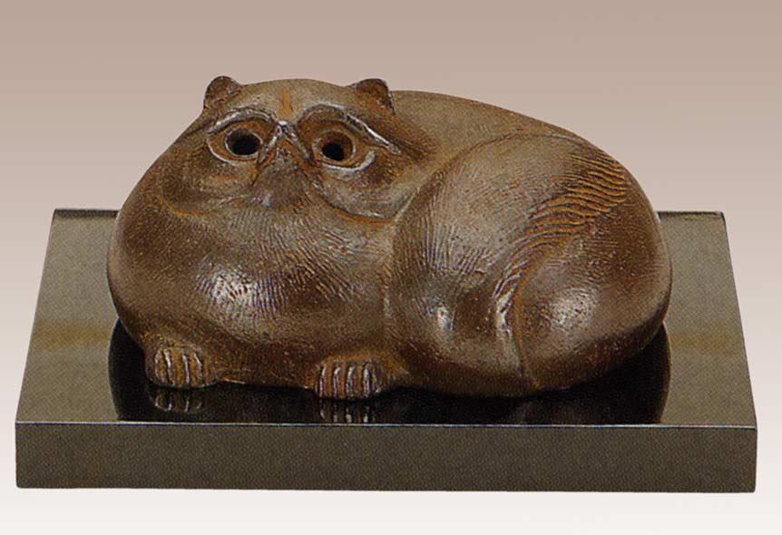津田永寿 作品 壷香炉 床の間 銅像 送料無料 香炉